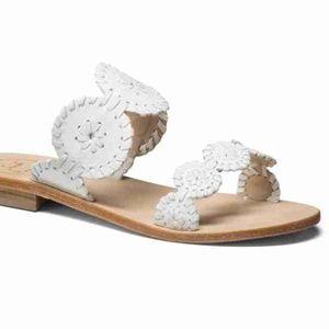 White Lauren Jack Rodgers Sandals Flip Flops